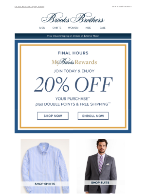 Brooks Brothers (AU) - One More Chance