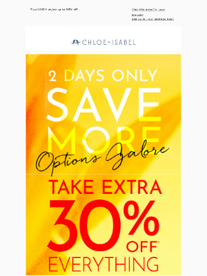Take an extra 30% off ALL travel inspired styles