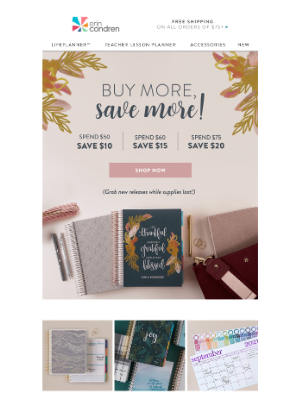 Erin Condren - Save on new releases TODAY