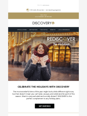 Global Hotel Alliance - However you celebrate, make it memorable with DISCOVERY