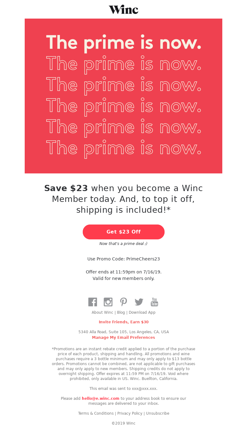 Winc - Amazon, who? This is the prime deal you need ✨
