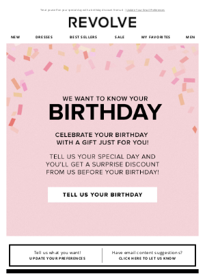 REVOLVE - When is  your birthday?