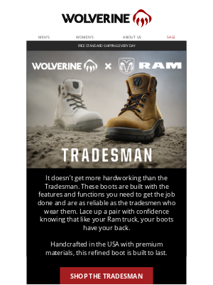 Wolverine - The Tradesman: The Work Boot That Like Your Ram Truck, Has Your Back