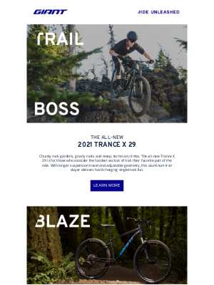 Giant Bicycles - The All-New Giant Trance & Talon!