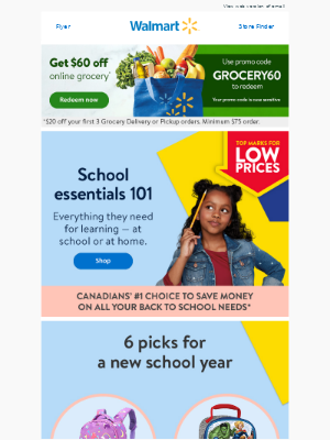 School supplies — always at LOW PRICES!