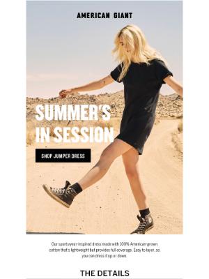 American Giant - New summer colors: Women's Jumper Dress