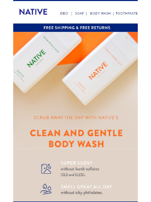 Get super sudsy with Native Body Wash!