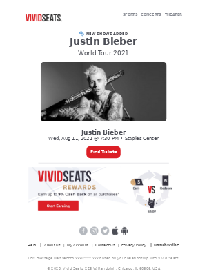 Tickets Available: Justin Bieber Live at Staples Center