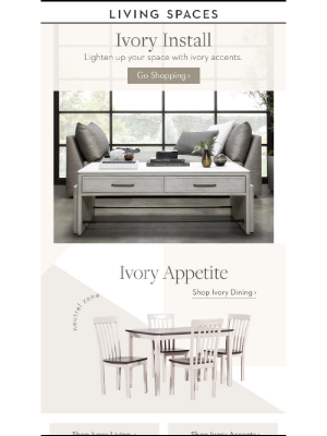 Living Spaces - Very Ivory