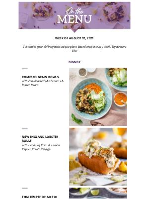 Purple Carrot - Vegan Lobster Rolls FTW