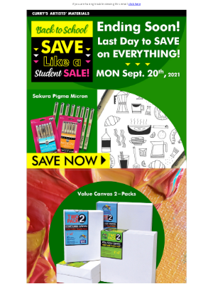 Curry's Art Store (CA) - Final Days to Save on Everything!