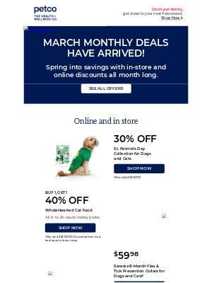 Petco - Don't miss these March deals!
