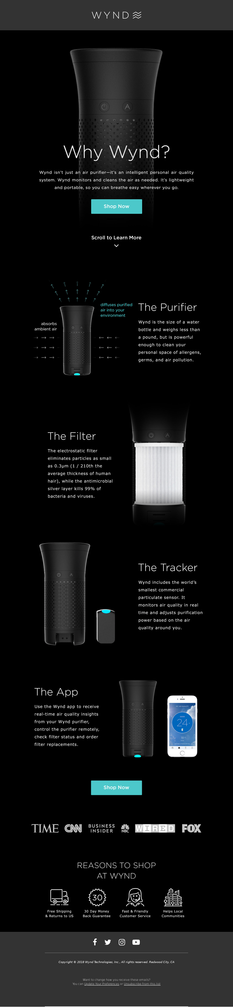 Wynd Why Wynd? Scroll to Learn More The Purifier The Filter The Tracker The