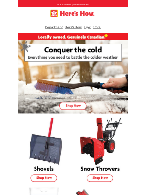 Home Hardware (CA) - Not ready for winter? We've got you covered.