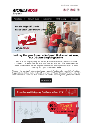 Mobile Edge - Mobile Edge Gift Cards – Great Last Minute Gifts