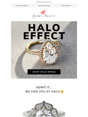 James Allen Rings - Infinite Sparkle → 25% Off Halo Rings 💍
