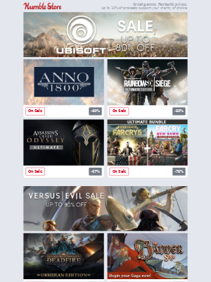 Save up to 80% off in our Ubisoft Hits Sale!