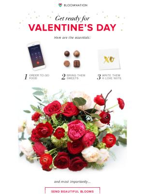 BloomNation - Reminder: Valentine's Day is just around the corner!