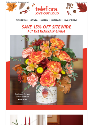 TeleFlora - Gobble Up 15% Off! 🍁🦃✨