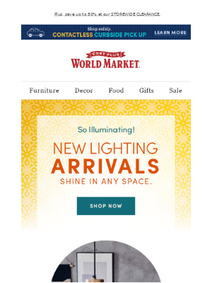 World Market - Bright ideas for your living space inside 💡