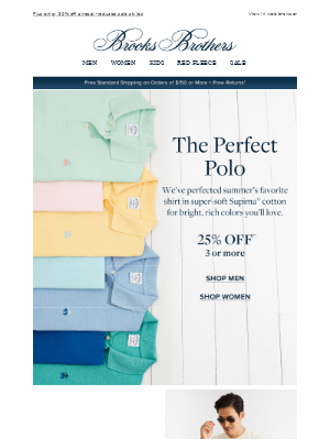 Save 25% on our favorite summer polos