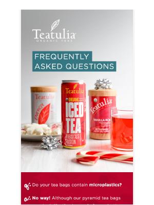 Teatulia Tea - Do your tea bags contain microplastics?