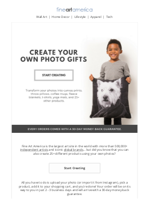 Fine Art America - Create Your Own Photo Gifts!