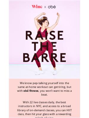 Winc - Meet us at the barre?