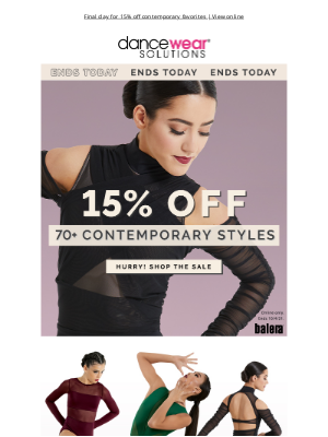 Dancewear Solutions - Last Chance To Save!
