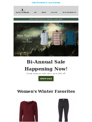 20% Sale Before End of Year!