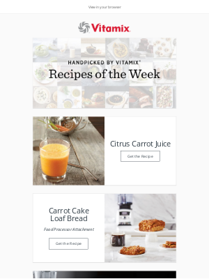 Vitamix - Recipes of the Week: Carrots Two Ways