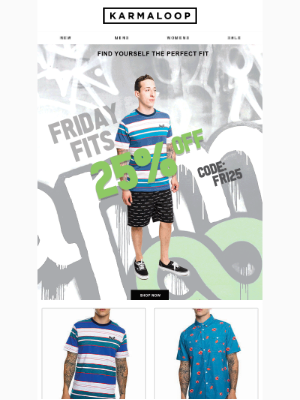 New HUF to Keep you in the Loop!  Create the Dopest Fits & Cop 25% Off 'em