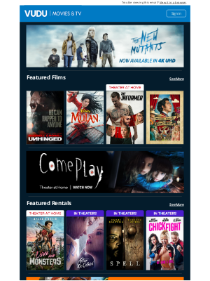 Vudu - Shop This Week's New Releases and Sales!