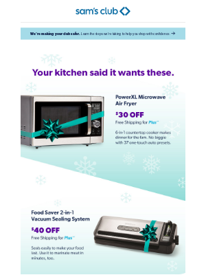 Sam's Club - Spoiler alert: Instant Savings end Dec. 24.