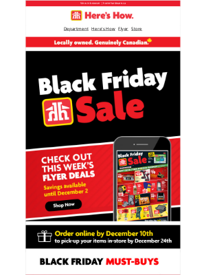 Home Hardware (CA) - Black Friday starts TODAY‼️