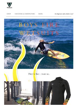 VISSLA - Boys Fire Wetsuits