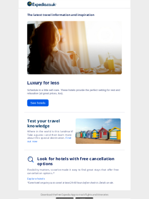 Expedia (UK) - Treat yourself: Luxury getaways for less