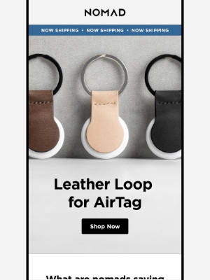 Nomad Goods - AirTag accessories are starting to ship!