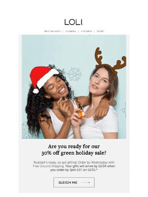 LOLI - Green Monday: 30% off + free shipping 💚