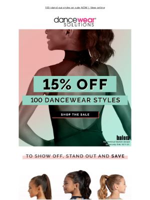 Dancewear Solutions - 15% off to show off + stand out 👀