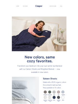 Casper - Your Casper favorites, now in new colors.