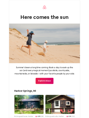 Airbnb - Summer is coming in hot ☀️