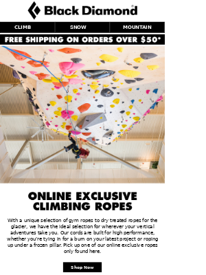 Online Exclusive Climbing Ropes