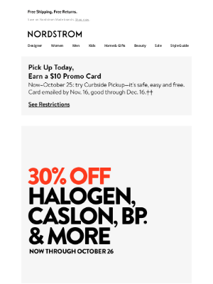 Nordstrom - Hurry! 30% off Halogen, Caslon, BP. and more