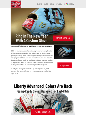 Rawlings Sporting Goods - New Year, New You, New Custom Glove!😍