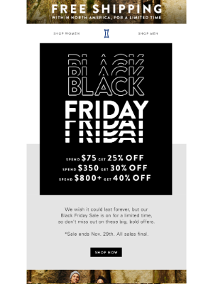 Kit and Ace - Don't miss out on our Black Friday event, on now!