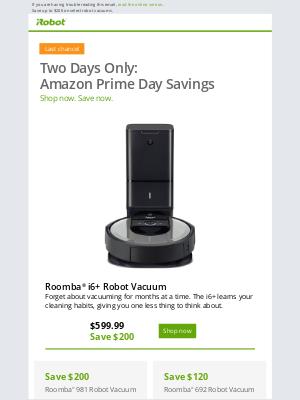 iRobot - Last Chance for Amazon Prime Day iRobot Deals!