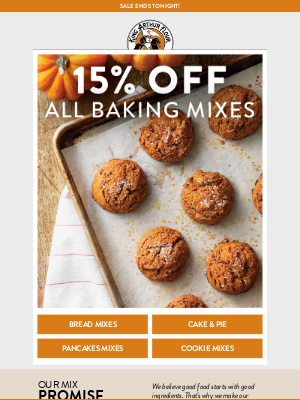 Ends Today: 15% Off Mixes