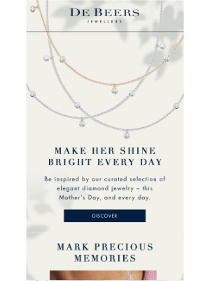 De Beers - A gift that she will treasure forever
