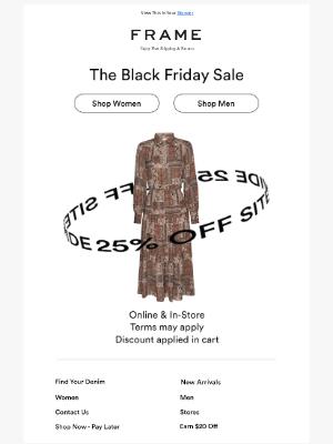 25% OFF BLACK FRIDAY SALE 📦